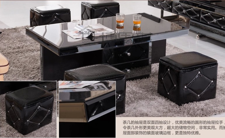 EXW Price Wooden Glass Black Coffee Table /glass Tea Table/wooden End Table/modern  Centre Table Model Y B810 In Coffee Tables From Furniture On ...