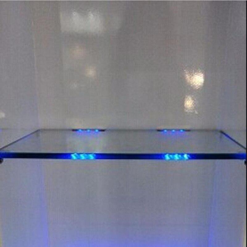 Us 2897 32 Offrgb Dimbare Onder Kast Led Verlichting Voor Glas Rand Plank Terug Side Clip Klem Strip Verlichting 6 Lampen Rf Afstandsbediening