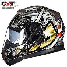 חדש GXT 160 להעיף את קסדת אופנוע כפול עדשת מלא פנים קסדת Casco ראסינג Capacete