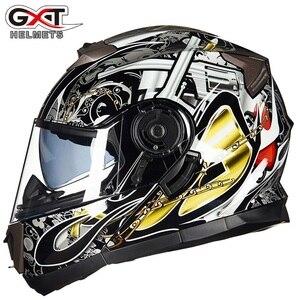 Image 1 - NEW GXT 160 Flip Up Motorcycle Helmet Double Lense Full Face Helmet Casco Racing Capacete