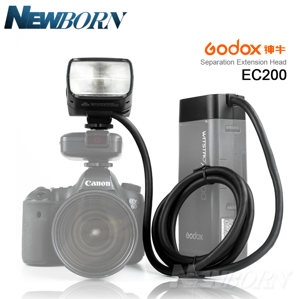 New Arrive Godox EC200 AD200 Remote Separation Extension Head with Hot Shoe for Godox AD200 Flash