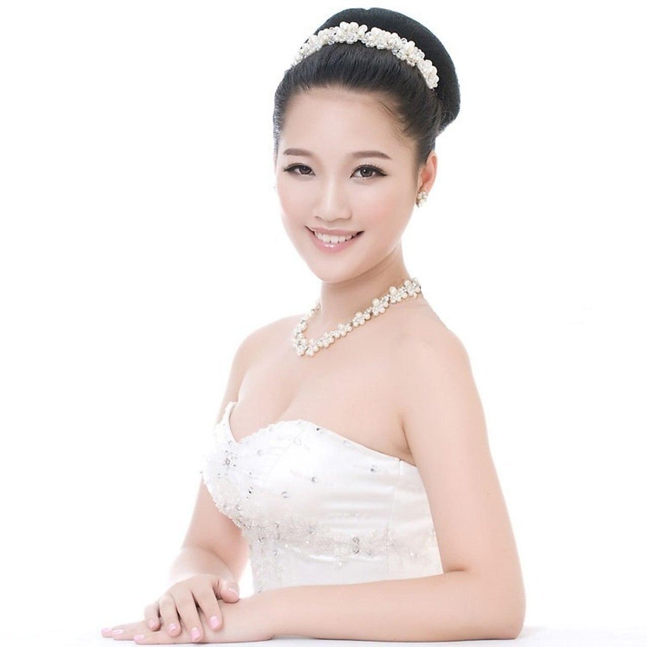 Hochzeit Haarschmuck Für Noiva Braut Kristall Perle Handgemachte - Modeschmuck - Foto 2