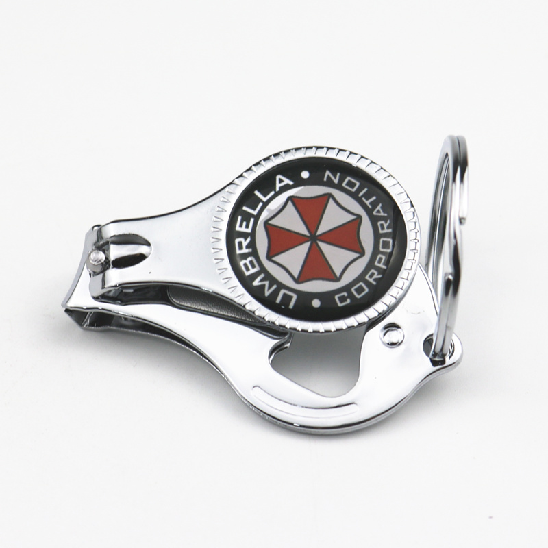 3D Alloy Multifunctional Umbrella corporation Car Keyring Emblem Badge Key Ring Chian For Lada Opel Renault Audi <font><b>Bmw</b></font> Toyota image