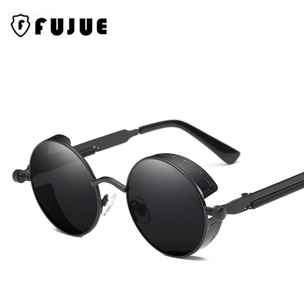 Vintage Metal Round Steampunk Sunglasses Women Men UV400 High Quality Designer Retro Sunglass Oculos De Sol