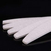 100pcs/lot Nail Art Polishing Sanding Buffer Files Set Grey Half Moon Shape Manicure Pedicure Gel Polish Tips Kits 100/180