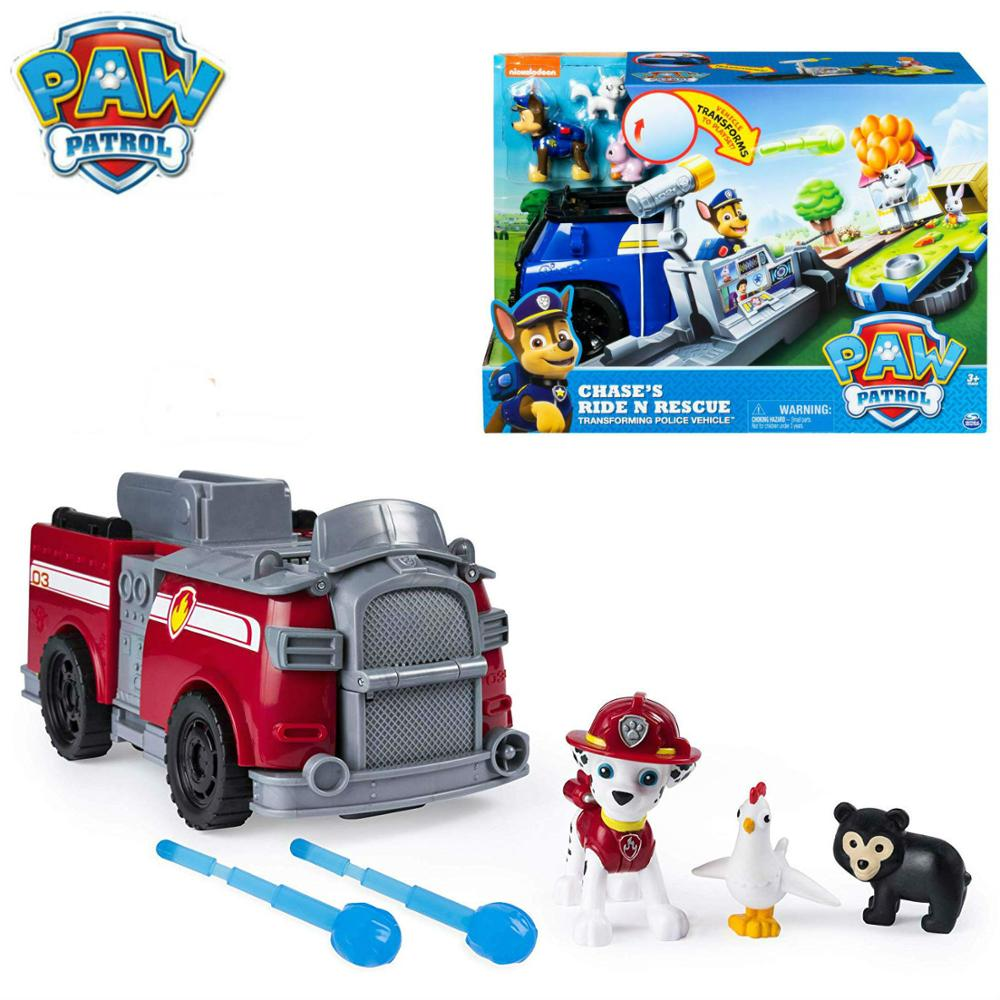 Original Paw Patrol Patrulla Canina ride N rescue chase marshall Action Figure Anime Juguetes Canine Brinquedos