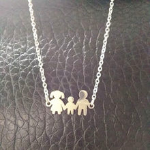 Mama Girl Boy Doll Pendant Necklaces Kid Stainless Steel Necklace for Women Jewelry Neckless gift collares joyeria(China)