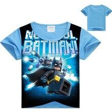 2017 Summer Children's clothes Baby boys T-shirt Legoe batman Ninja Ninjago cartoon T shirt tops superman youngsters garments Three-10Yr