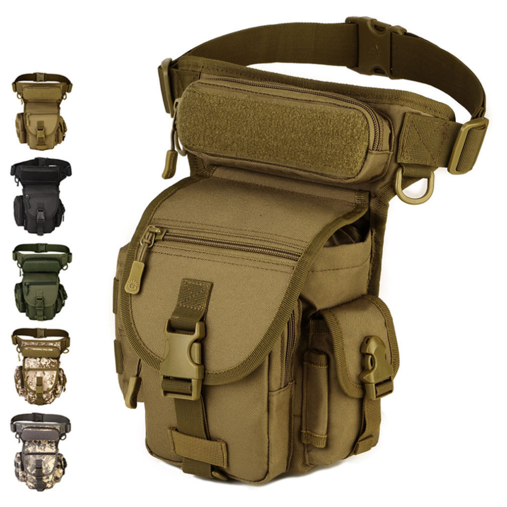 Men Waterproof Nylon Waist Drop Leg Bag Fanny Pack Thigh Hip Bum Belt Motorcycle Military Tactical for Travel Riding Hiking Bags