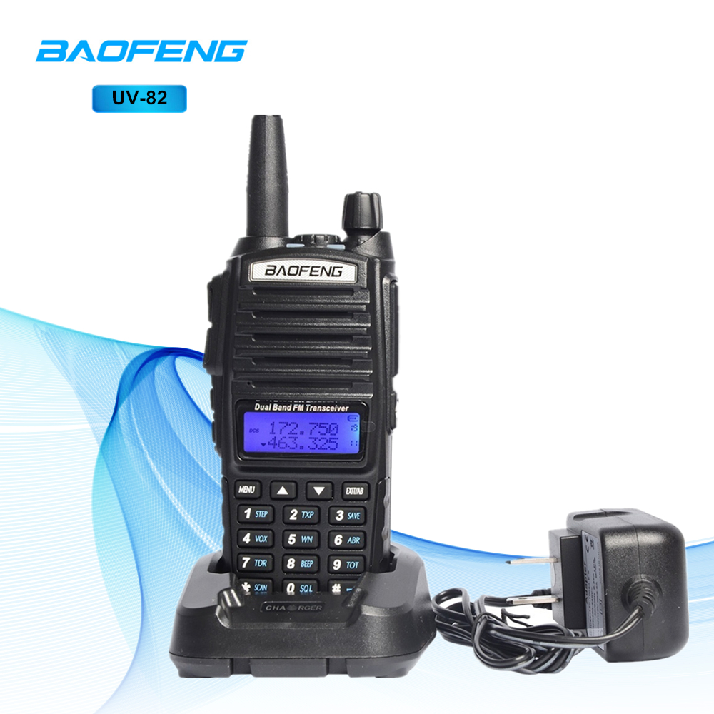 Baofeng UV-82 Talkie Walkie Professionnel CB Station de Radio Baofeng UV82 Émetteur-Récepteur 5 w VHF UHF Portable UV 82 Chasse Jambon radio