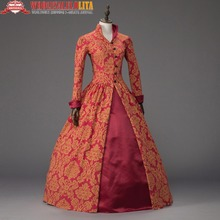 Queen Elizabeth I Tudor Gothic Jacquard Christmas Dress Game of Thrones Gown Theater Clothing