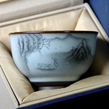 Jingdezhen Hand-painted Tea Cups, Ceramics Gift Boxes, Glazed Kungfu Sets, Master Single Cups