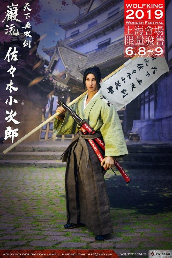 WOLFKING Wonder Festival 2019 Japanese Ronin Sasaki Kojiro 1 6 Figure standard Version