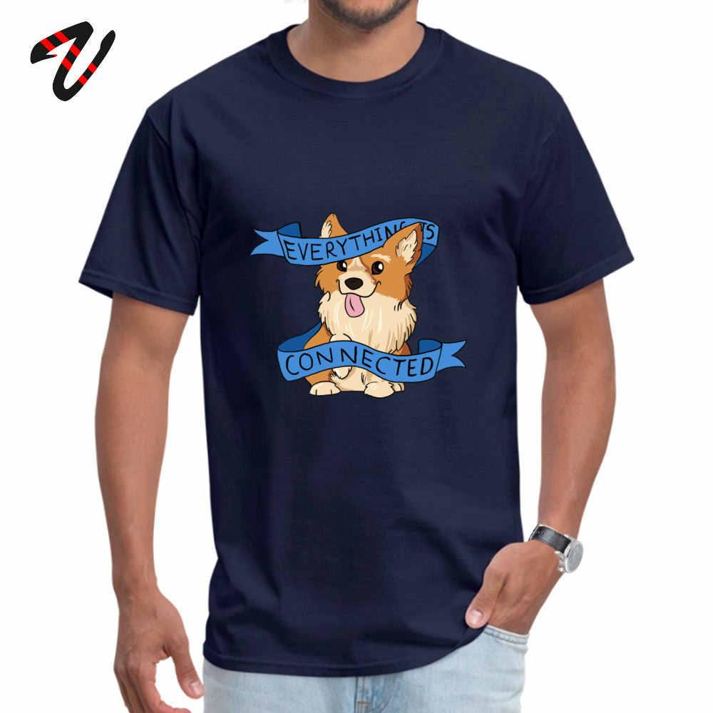 特大すべてが接続コーギートップ Tシャツ秋のラウンド襟ヘルボーイの Tシャツシャツトランプトップス