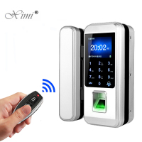 Fingerprint Lock Office Glass Door Single/Double Door Password Lock Smart Card Remote Control Electronic Access Control XM 300