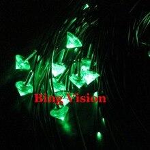 Диммируемый+ скорость регулируемый конец светящийся волоконно-оптический Звездный потолочный комплект, 200 шт. 1,0/2,2 мм оптоволоконный кабель 5 м+ волоконный кристалл+ Радиочастотный пульт