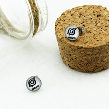 2 Styles Naruto Titanium Steel Unisex Stud Earrings