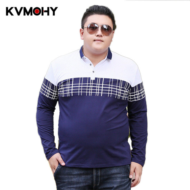 28f38061fdc4b Men Polo Shirt New Summer Casual Stripe Cotton Mens Big Guy Shirts Polo  Camiseta Masculina Male Camisa Polos Hombre Tees 6XL 7XL