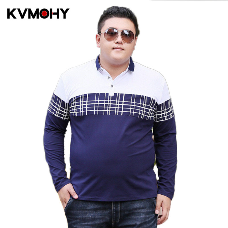 Men Polo Shirt New Summer Casual Stripe Cotton Mens Big Guy Shirts Polo <font><b>Camiseta</b></font> Masculina Male Camisa Polos <font><b>Hombre</b></font> Tees <font><b>6XL</b></font> 7XL image