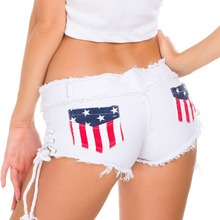 Summer Denim Shorts For Women Sexy Mini Shorts Women Lace Up Skinny Short Jeans Low Waist Shorts Ripped Denim Short Femme A198