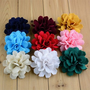 Image 3 - 200pcs/lot 17 Color U Pick 3 Inch Handmade Ballerina Chiffon Burlap Flowers Garment Hair Accessories Wholesale Supply FH59