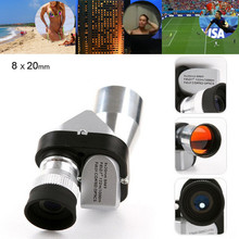 Portable Mini 8×20 Monocular Telescope Aluminum Alloy Setting Low Light Night Vision Binocular Spotting Scope Hunting 2019 Hot