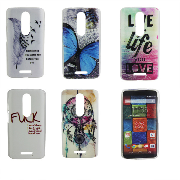 Soft silicone TPU cuto cartoon painting Cover Case Motorola Moto X Style / Pure Edition - lisa topseller's store