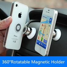 360 degrees magnetic car phone holder stand for iphone 6/7 plus 5S  magnetic holder For mobile phone in car support Car DVR GPS