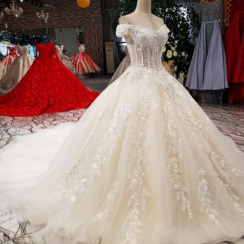 Image 4 - AIJINGYU Sexy Wedding Dresses Short Gown Bridal Lace Organza Cheap Off White Second Marriage Gowns Designer Wedding DressWedding Dresses   -