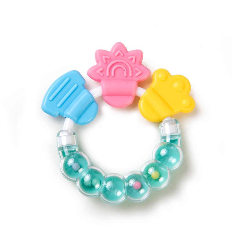 Погремушки для новорожденного ребенка прорезыватель для зубов для малышей детская погремушка для малыша колокольчик силиконовый колокольчик Джингл игрушка для прорезывающихся зубов с героями мультфильмов