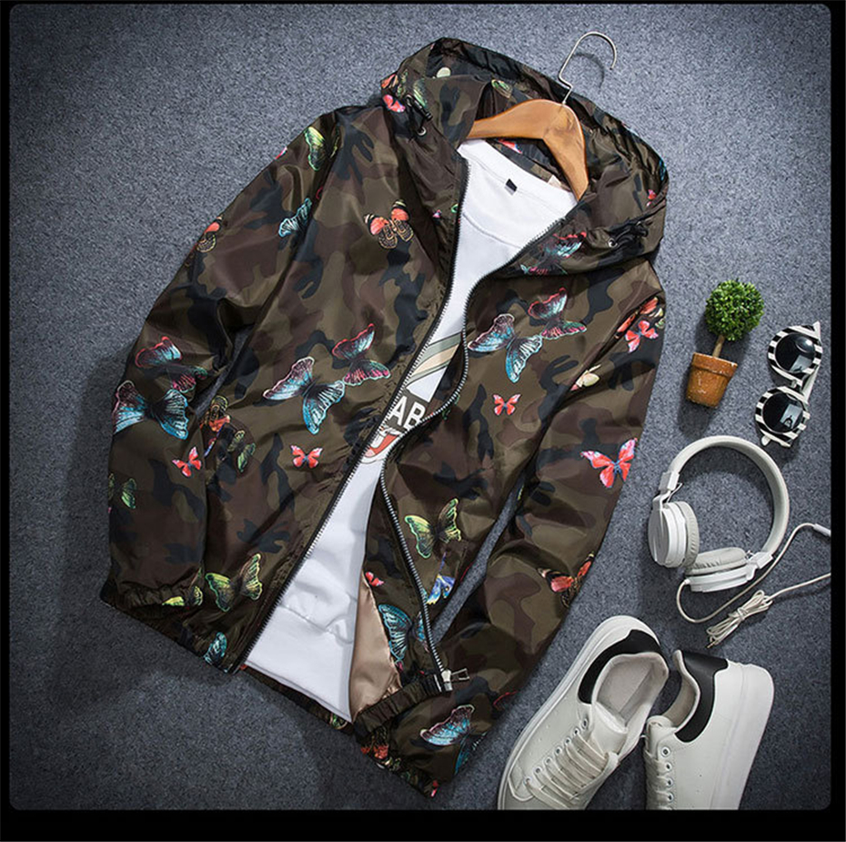 HTB1tNQgKhSYBuNjSsphq6zGvVXaC Mens Casual Camouflage Hoodie Jacket 2018 New Autumn Butterfly Print Clothes Men's Hooded Windbreaker Coat Male Outwear WS505