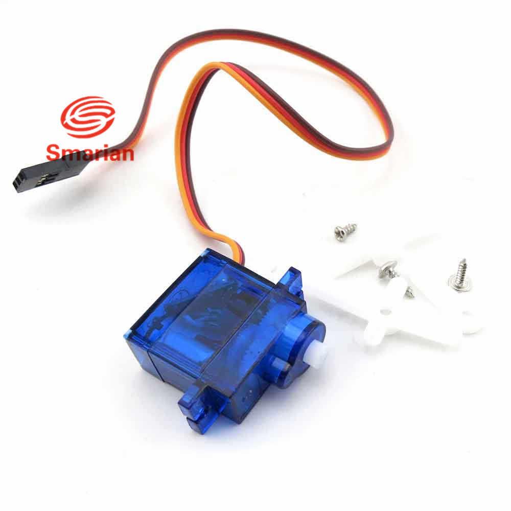 SG90 мини-сервопривод, вес: 9 гр, аксессуары/Запчасти FPV Servo Кронштейн Робот платформа для камеры, маленький робот-манипулятор, человекоподобный робот DIY RC игрушки