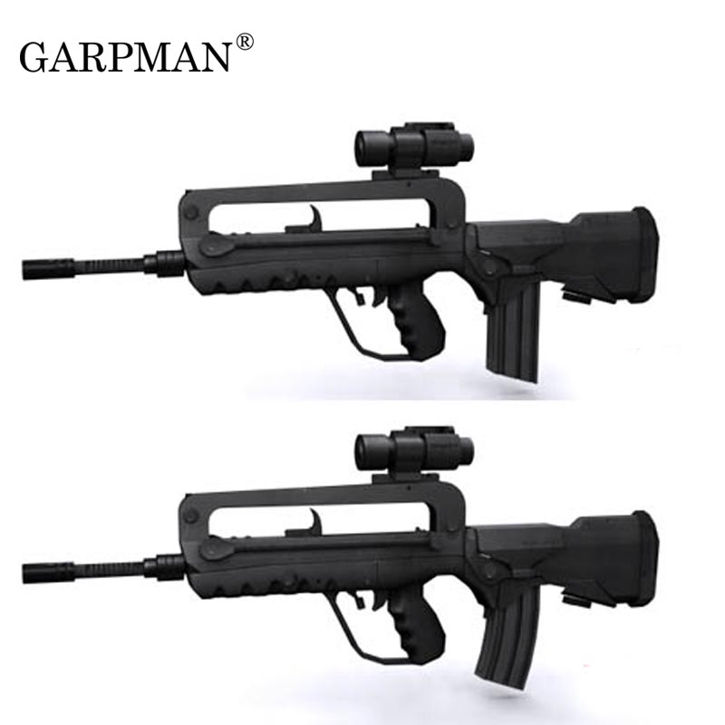 1:1 Scale FAMAS Assault Gun 3D Puzzle Paper Model Gun DIY Educational Toy  Hand-made Toy