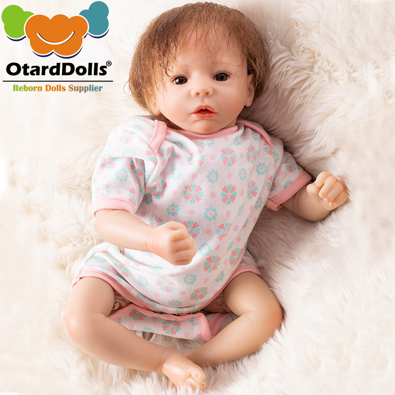 OtardDolls 18inch Bebe Reborn baby Dolls 45cm silicon Reborn Dolls vinyl reborn girl lifelike toy for Children Birthday GiftsOtardDolls 18inch Bebe Reborn baby Dolls 45cm silicon Reborn Dolls vinyl reborn girl lifelike toy for Children Birthday Gifts