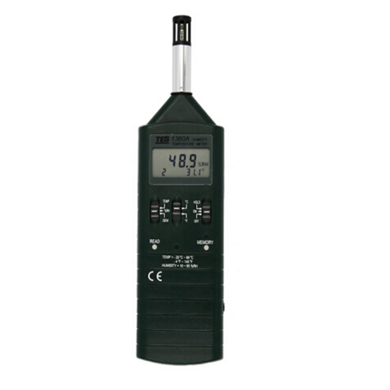 TES 1360a Ambient air t Humidity Temperature Meter Handheld