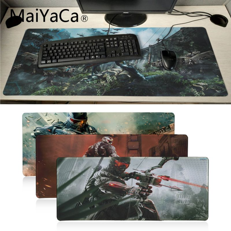MaiYaCa My Favorite Crysis Laptop Gaming Mice Mousepad Keyboard Mat Desk Mat Computer Game Tablet Game Gaming For CSGO Mouse Pad