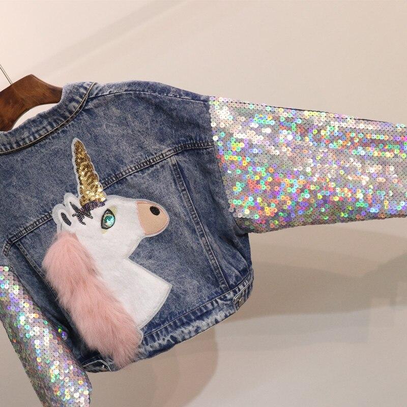 Patch Paillettes Designs Fit souris Printemps Mode Marque Collar Manteau Blue Chauve Manches Filles Veste Nouveau Loose Jean Denim Femmes 2018 down Turn pq6tEq