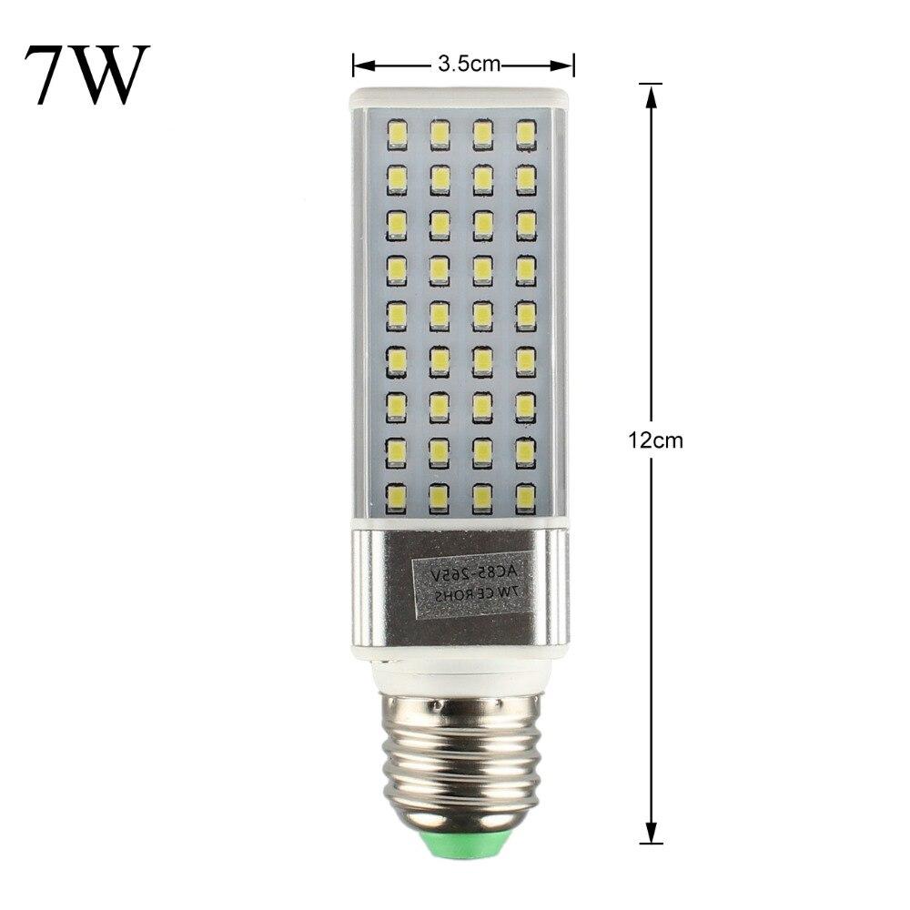 E27 LED Light Bulb Corn Lights SMD 2835 110V 220V 85 265V 7W 12W LED Corn lamp Bulb Spotlight 180 Degree Horizontal Plug Lights in LED Bulbs Tubes from Lights Lighting