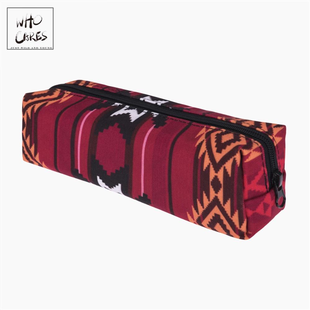Indian Red 3D Printing Cosmetic Bag Women Fashion Makeup Bag Organizer Pouch Necessaire Trousse De Maquillage Bags Pencil Case