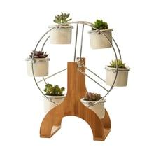 DIY Fun Ferris wheel Rotary flowerpot combination Simple creative ceramic garden pot