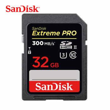 サンディスク SD カード 32 ギガバイト 64 ギガバイトエクストリームプロ高速カード 128 ギガバイト SDHC/SDXC U3 UHS- ll フラッシュメモリカード 4 18K HD 一眼レフカメラ 300 メガバイト/秒
