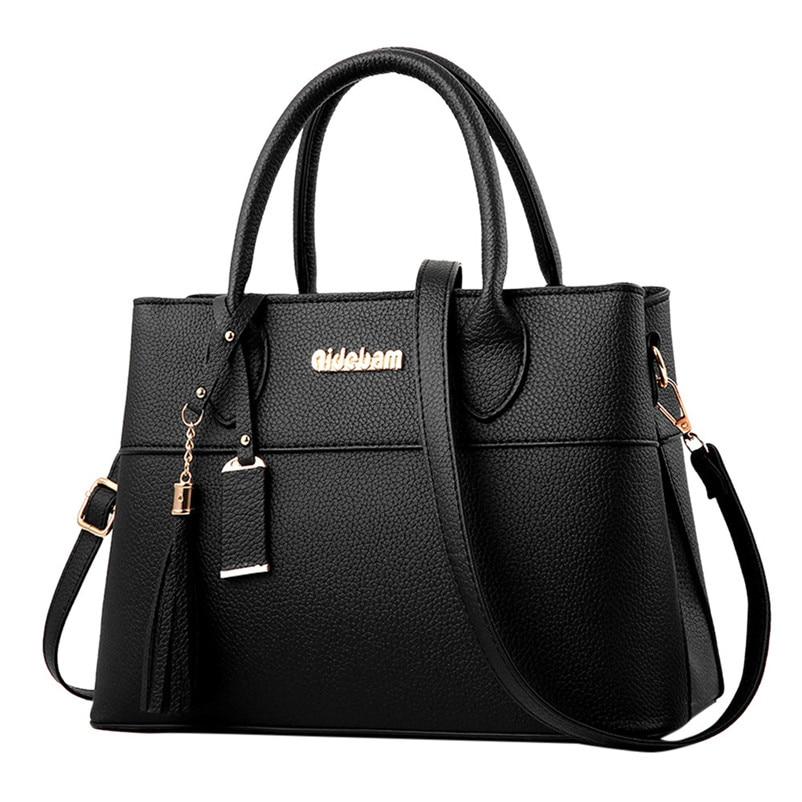 Brand Luxury Handbags Women Bags Designer Fashion Litchi Tassels Handbags Casual Messenger Bag Large Capacity Shoulder Bag