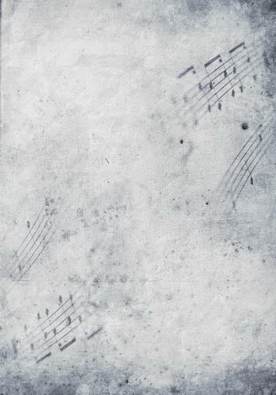 Fancy Photocall Music Notes Background Fabric Old Master