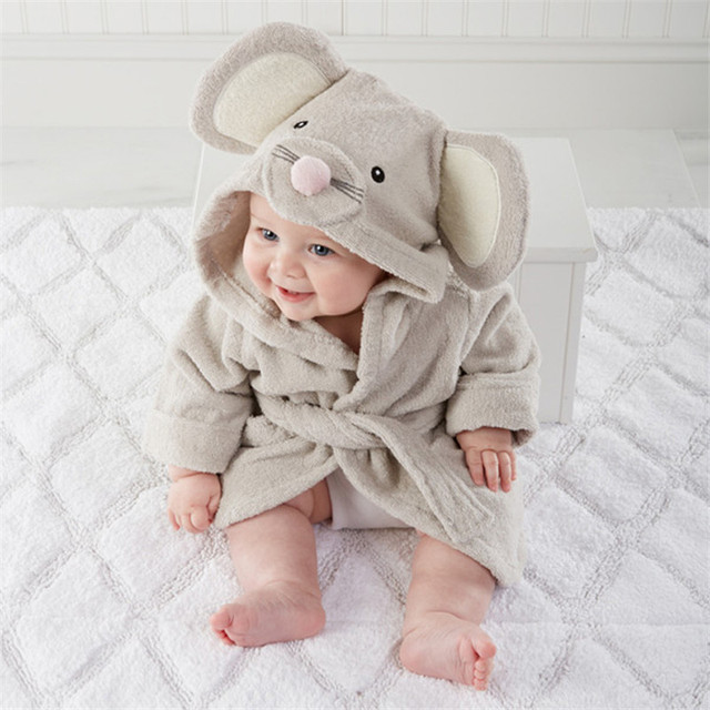 Retail  Baby animal bathrobe kids bath terry children infant bathing  Yupao
