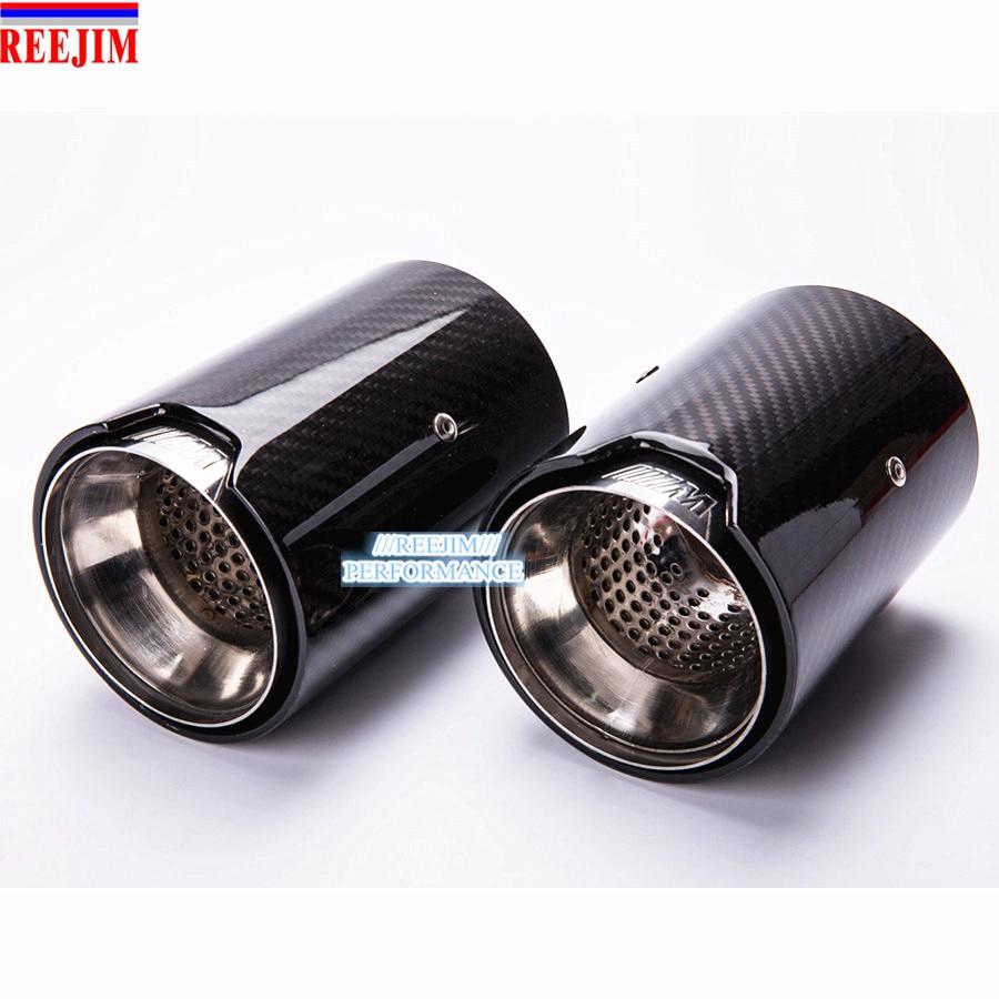 2 Piece Real Carbon Fiber Exhaust tip For BMW M Performance exhaust pipe M2 F87 M3 F80 M4 F82 F83 M5 F10 M6 F12 F13 X5M X6M Mercedes-Benz A-класс