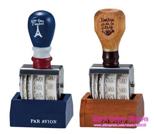 2 Sets of Roller Stamp, Date design, ZAKKA Hand Rolling Stamp, 2 colors mix