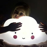 Large Cloud Lights Nordic Explosion Creative Children's Bedroom Voice activated Touch Night Light Gift Table Lamp