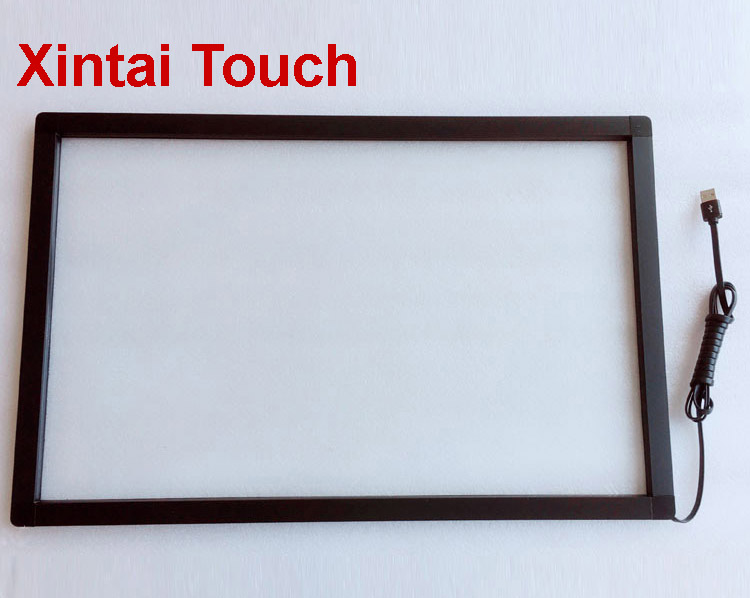 Free Shipping! 23 Inch Infrared Touch Screen 10 Points Touch Panel Ir Touch Frame With Glass/16:9 Format