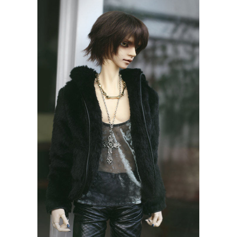 "BJD Black Jacket Coat Outfits Top For Male 1//3 24/"" 60CM SD DK DZ Volks Doll"
