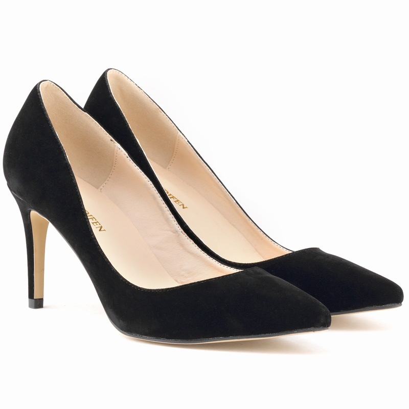 pointed genuine classic high-heeled shoes stiletto heels women shoe 952-1 shoes flannel shallow mouth women crude with a single shoe shallow mouth high heeled shoes 2018 new fashion lady shoes for women high heeled shoes spring 39